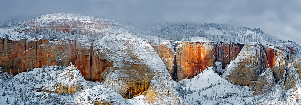 Observation Point Winter, Zion National Park, Utah